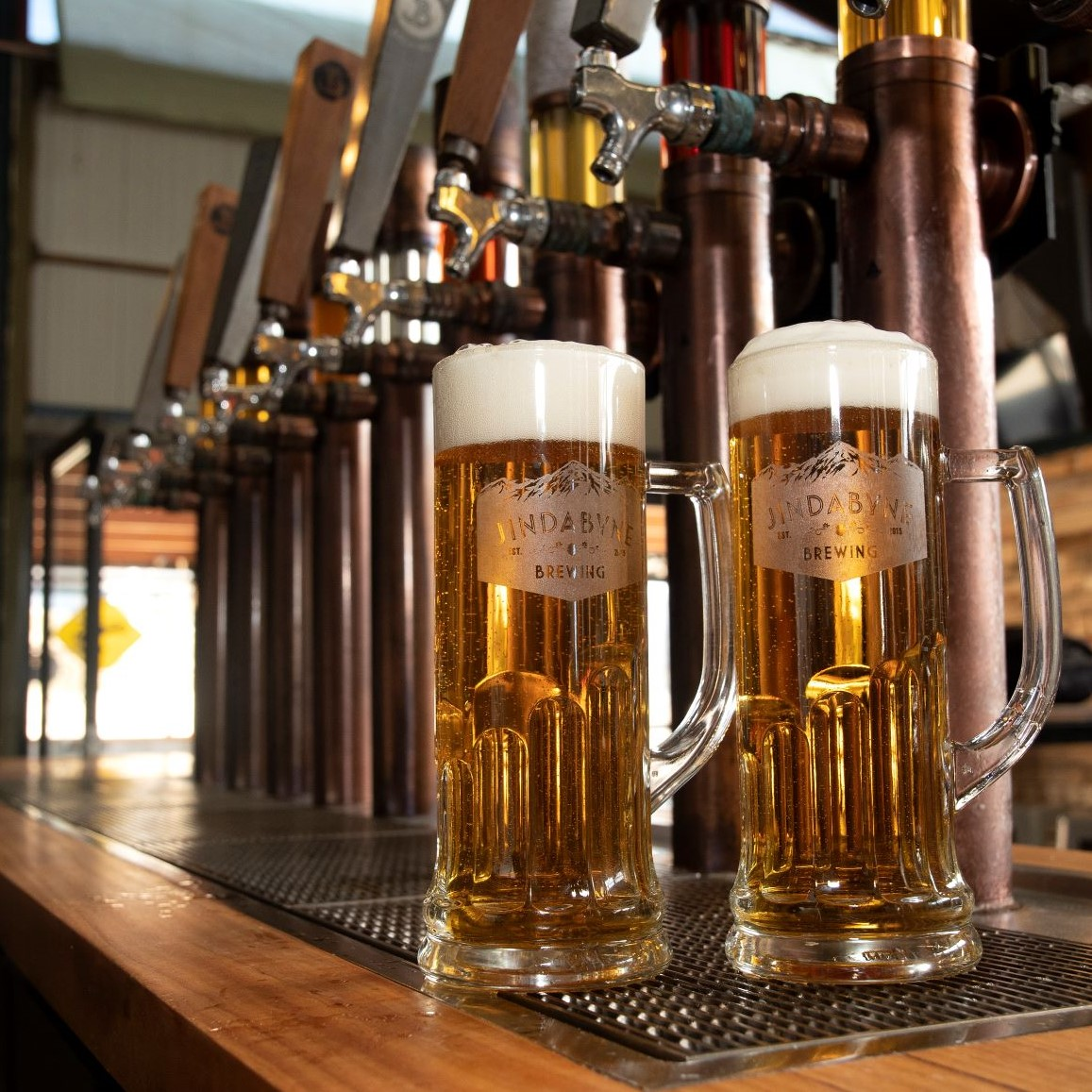 Craft beer on tap at the Jindabyne Brewing Company